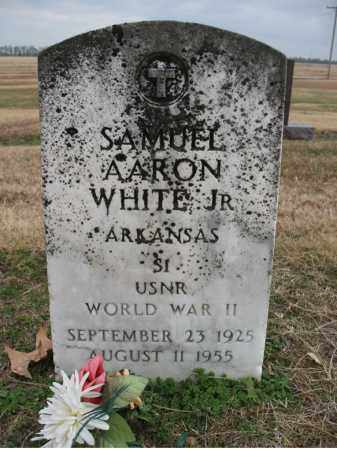 WHITE, JR (VETERAN WWII), SAMUEL AARON - Cross County, Arkansas | SAMUEL AARON WHITE, JR (VETERAN WWII) - Arkansas Gravestone Photos