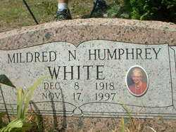 HUMPHREY WHITE, MILDRED NADINE - Cross County, Arkansas | MILDRED NADINE HUMPHREY WHITE - Arkansas Gravestone Photos