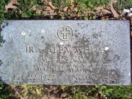 WHITE (VETERAN WWII), IRA ALEX - Cross County, Arkansas   IRA ALEX WHITE (VETERAN WWII) - Arkansas Gravestone Photos