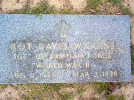 WIGGINS (VETERAN WWII), ROY DAVID - Cross County, Arkansas | ROY DAVID WIGGINS (VETERAN WWII) - Arkansas Gravestone Photos