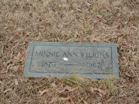 WILKINS, MINNIE ANN - Cross County, Arkansas | MINNIE ANN WILKINS - Arkansas Gravestone Photos