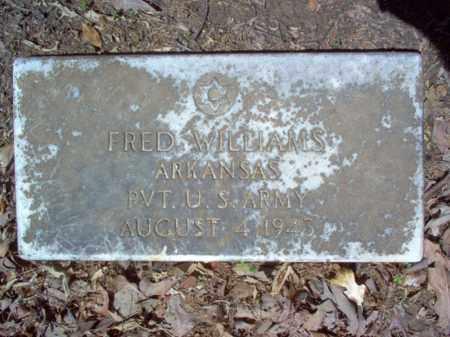 WILLIAMS  (VETERAN), FRED - Cross County, Arkansas | FRED WILLIAMS  (VETERAN) - Arkansas Gravestone Photos