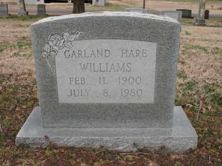 WILLIAMS, GARLAND HARE - Cross County, Arkansas   GARLAND HARE WILLIAMS - Arkansas Gravestone Photos