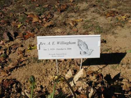 """WILLINGHAM, REV, A E """"GENE"""" - Cross County, Arkansas   A E """"GENE"""" WILLINGHAM, REV - Arkansas Gravestone Photos"""