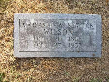 SLAYTON WILSON, MARGARET W - Cross County, Arkansas | MARGARET W SLAYTON WILSON - Arkansas Gravestone Photos