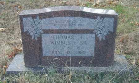 WIMBUSH, SR, THOMAS C - Cross County, Arkansas | THOMAS C WIMBUSH, SR - Arkansas Gravestone Photos