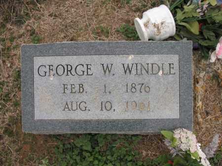 WINDLE, GEORGE W - Cross County, Arkansas | GEORGE W WINDLE - Arkansas Gravestone Photos