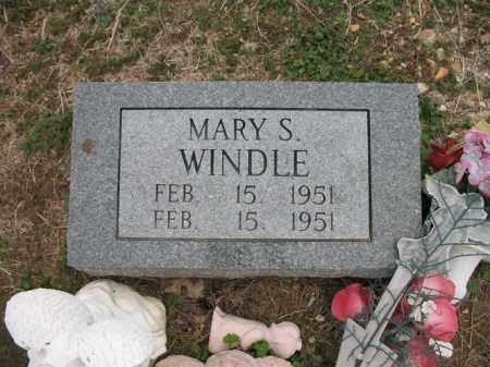 WINDLE, MARY S - Cross County, Arkansas   MARY S WINDLE - Arkansas Gravestone Photos