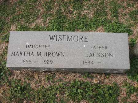 WISEMORE, JACKSON - Cross County, Arkansas | JACKSON WISEMORE - Arkansas Gravestone Photos