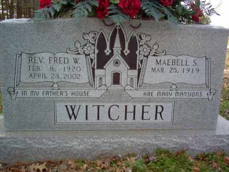 WITCHER, REV, FRED W - Cross County, Arkansas | FRED W WITCHER, REV - Arkansas Gravestone Photos