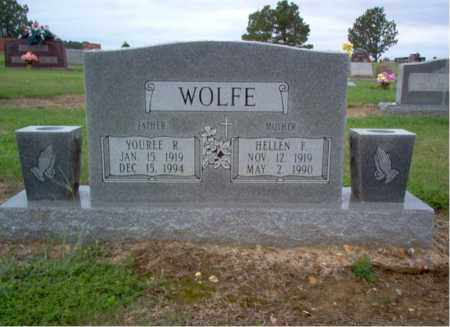WOLFE, YOUREE R - Cross County, Arkansas | YOUREE R WOLFE - Arkansas Gravestone Photos