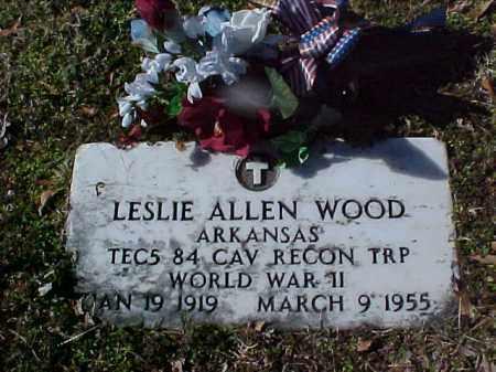WOOD  (VETERAN WWII), LESLIE ALLEN - Cross County, Arkansas | LESLIE ALLEN WOOD  (VETERAN WWII) - Arkansas Gravestone Photos