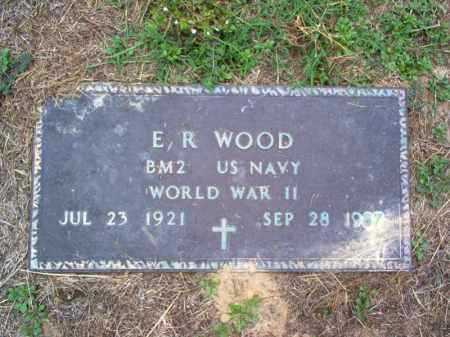 WOOD (VETERAN WWII), E R - Cross County, Arkansas | E R WOOD (VETERAN WWII) - Arkansas Gravestone Photos