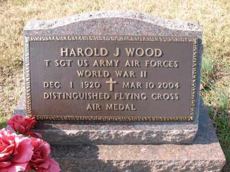 WOOD (VETERAN WWII), HAROLD J - Cross County, Arkansas | HAROLD J WOOD (VETERAN WWII) - Arkansas Gravestone Photos