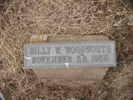 WOODWORTH, BILLY W - Cross County, Arkansas | BILLY W WOODWORTH - Arkansas Gravestone Photos