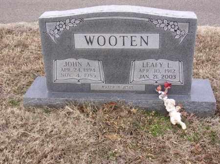 LUCAS WOOTEN, LEAFY - Cross County, Arkansas | LEAFY LUCAS WOOTEN - Arkansas Gravestone Photos