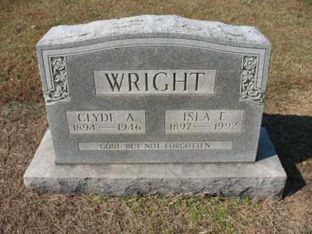 WRIGHT, CLYDE A - Cross County, Arkansas   CLYDE A WRIGHT - Arkansas Gravestone Photos