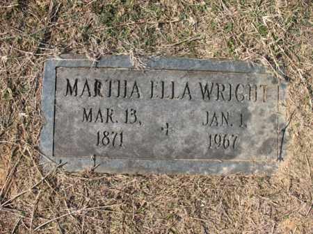 WRIGHT, MARTHA ELLA - Cross County, Arkansas | MARTHA ELLA WRIGHT - Arkansas Gravestone Photos