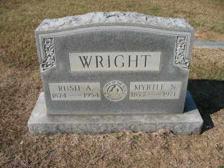 WRIGHT, MYRTLE N - Cross County, Arkansas | MYRTLE N WRIGHT - Arkansas Gravestone Photos