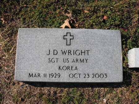 WRIGHT (VETERAN KOR), J D - Cross County, Arkansas | J D WRIGHT (VETERAN KOR) - Arkansas Gravestone Photos