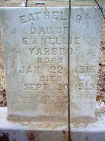 YARBRO, EATHEL R - Cross County, Arkansas | EATHEL R YARBRO - Arkansas Gravestone Photos
