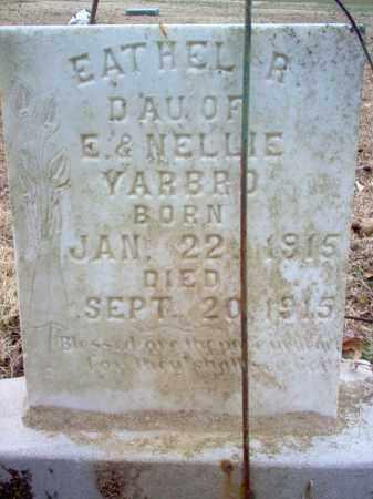 YARBRO, EATHEL R - Cross County, Arkansas   EATHEL R YARBRO - Arkansas Gravestone Photos