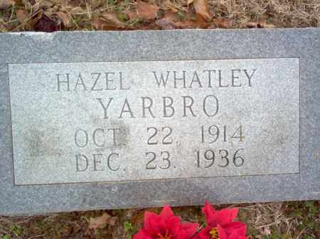 WHATLEY YARBRO, HAZEL - Cross County, Arkansas   HAZEL WHATLEY YARBRO - Arkansas Gravestone Photos