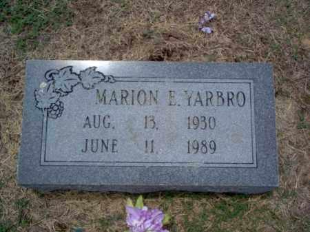 YARBRO, MARION E - Cross County, Arkansas | MARION E YARBRO - Arkansas Gravestone Photos