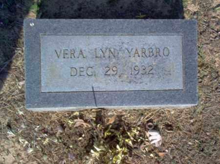 YARBRO, VERA LYN - Cross County, Arkansas | VERA LYN YARBRO - Arkansas Gravestone Photos