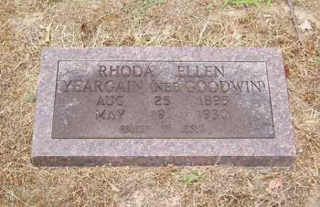 GOODWIN YEARGAIN, RHONDA ELLEN - Cross County, Arkansas | RHONDA ELLEN GOODWIN YEARGAIN - Arkansas Gravestone Photos