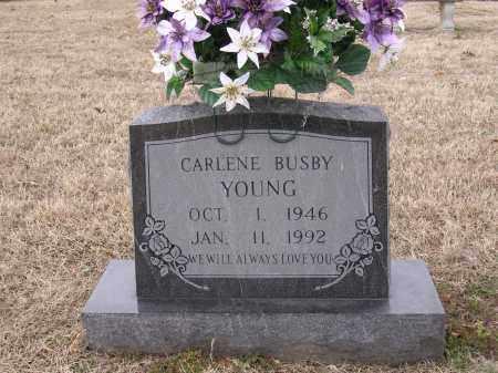 BUSBY YOUNG, CARLENE - Cross County, Arkansas   CARLENE BUSBY YOUNG - Arkansas Gravestone Photos
