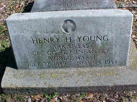 YOUNG  (VETERAN WWI), HENRY H - Cross County, Arkansas | HENRY H YOUNG  (VETERAN WWI) - Arkansas Gravestone Photos