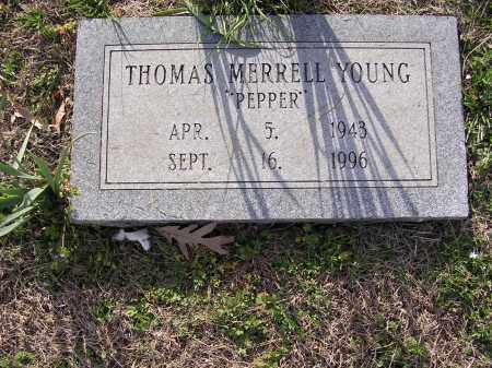 "YOUNG, THOMAS MERRELL ""PEPPER"" - Cross County, Arkansas 