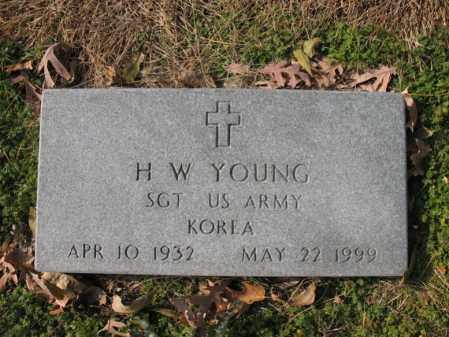 YOUNG (VETERAN KOR), H W - Cross County, Arkansas | H W YOUNG (VETERAN KOR) - Arkansas Gravestone Photos