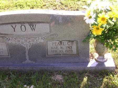 YOW, PEARL C - Cross County, Arkansas   PEARL C YOW - Arkansas Gravestone Photos