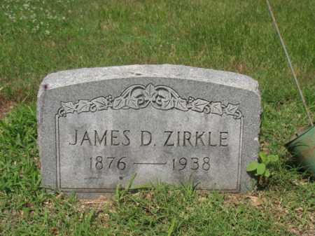 ZIRKLE, JAMES D - Cross County, Arkansas | JAMES D ZIRKLE - Arkansas Gravestone Photos