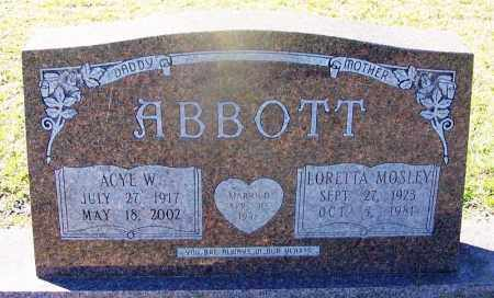 ABBOTT, LORETTA - Dallas County, Arkansas | LORETTA ABBOTT - Arkansas Gravestone Photos