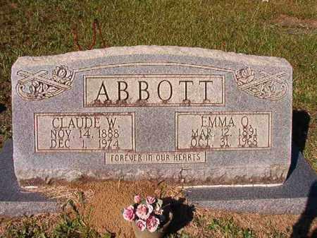 ABBOTT, CLAUDE W - Dallas County, Arkansas | CLAUDE W ABBOTT - Arkansas Gravestone Photos