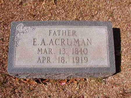 ACRUMAN, ELIAS A - Dallas County, Arkansas   ELIAS A ACRUMAN - Arkansas Gravestone Photos