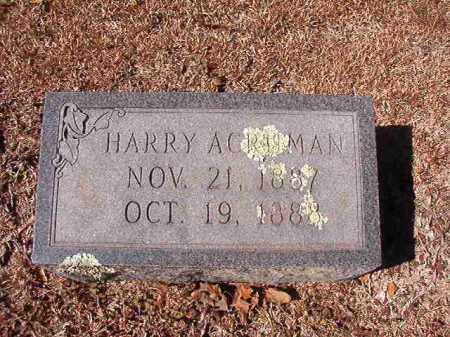 ACRUMAN, HARRY - Dallas County, Arkansas | HARRY ACRUMAN - Arkansas Gravestone Photos