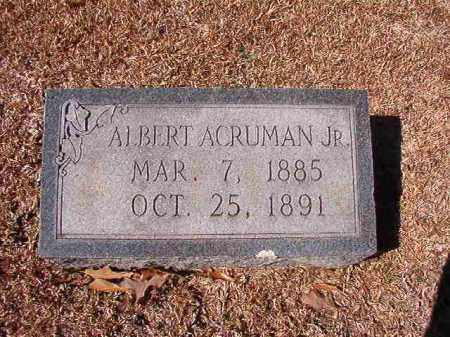 ACRUMAN, JR, ALBERT - Dallas County, Arkansas | ALBERT ACRUMAN, JR - Arkansas Gravestone Photos