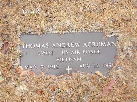 ACRUMAN (VETERAN VIET), THOMAS ANDREW - Dallas County, Arkansas | THOMAS ANDREW ACRUMAN (VETERAN VIET) - Arkansas Gravestone Photos
