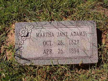 ADAMS, MARTHA JANE - Dallas County, Arkansas | MARTHA JANE ADAMS - Arkansas Gravestone Photos