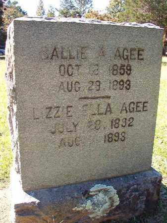 AGEE, LIZZIE ELLA - Dallas County, Arkansas | LIZZIE ELLA AGEE - Arkansas Gravestone Photos