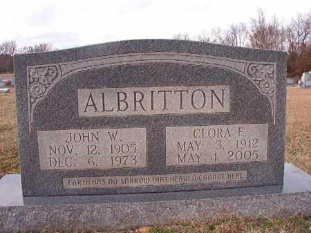 ALBRITTON, CLORA E - Dallas County, Arkansas | CLORA E ALBRITTON - Arkansas Gravestone Photos