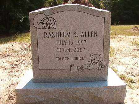 ALLEN, RASHEEM B - Dallas County, Arkansas | RASHEEM B ALLEN - Arkansas Gravestone Photos