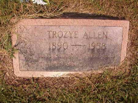 ALLEN, TROYZE - Dallas County, Arkansas   TROYZE ALLEN - Arkansas Gravestone Photos