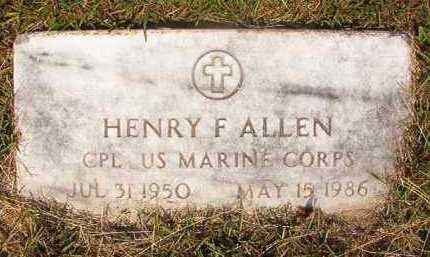 ALLEN (VETERAN), HENRY F - Dallas County, Arkansas | HENRY F ALLEN (VETERAN) - Arkansas Gravestone Photos