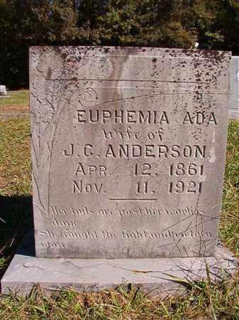 ANDERSON, EUPHEMIA ADA - Dallas County, Arkansas | EUPHEMIA ADA ANDERSON - Arkansas Gravestone Photos
