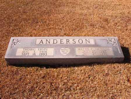 ANDERSON, MATTIE RUTH - Dallas County, Arkansas   MATTIE RUTH ANDERSON - Arkansas Gravestone Photos